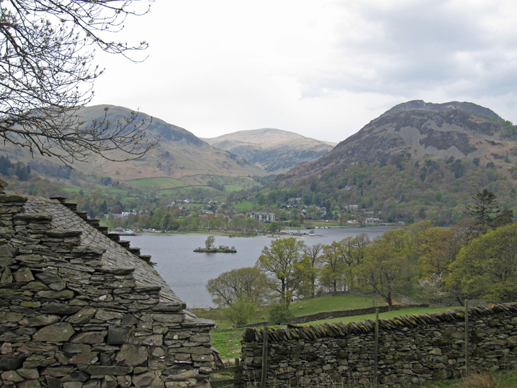 Glenridding on the far side of Ullswater
