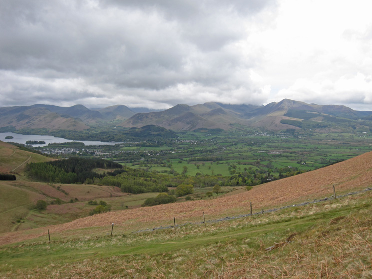 Looking across to the north western fells