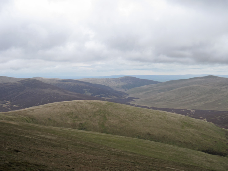 Sale How in front of Great Calva left, Carrock Fell centre and Bowsacle Fell right