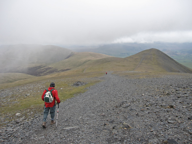 Descending, with Skiddaw Little Man ahead