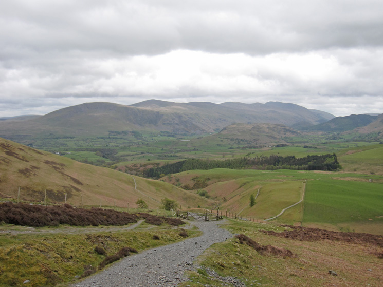 The Helvellyn range as we approach the site of the refreshment hut (on the left just after the gate)