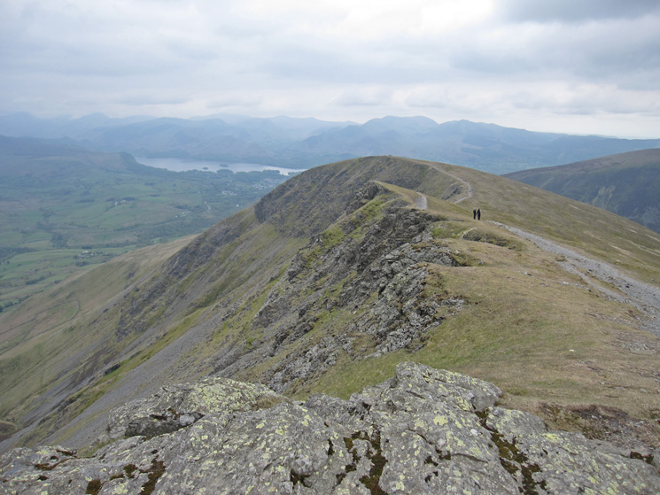 Looking back to Blease Fell/Knowe Crags from Gategill Fell Top