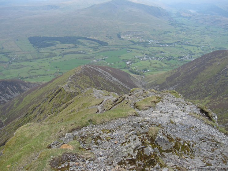 Hall's Fell Ridge from Blencathra's summit