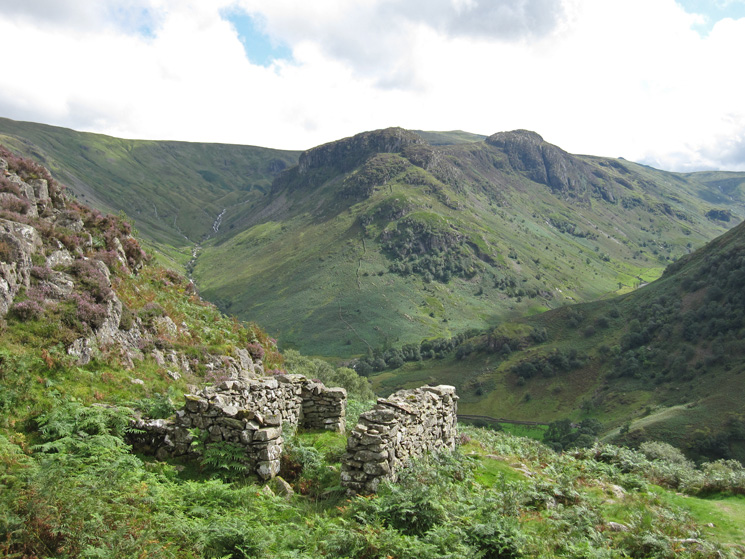 Eagle Crag and Sergeant's Crag from Lingy End