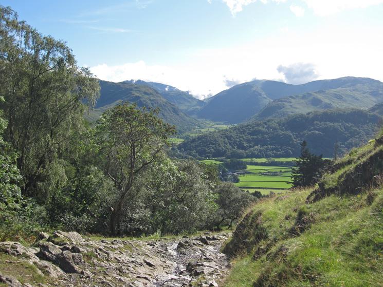Upper Borrowdale as we descend towards Rosthwaite