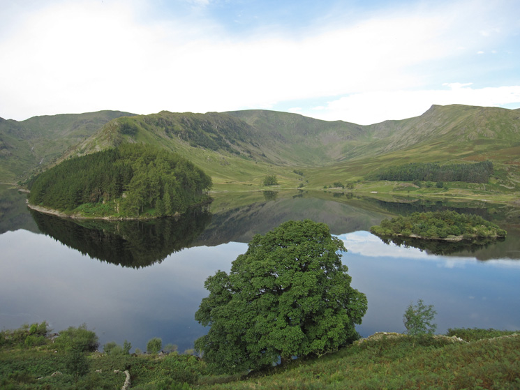 Looking across Haweswater to Riggindale