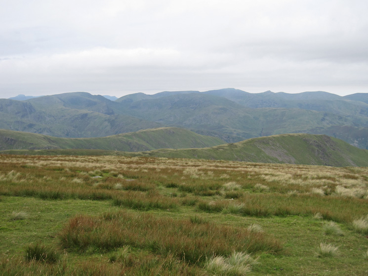 Fairfield and Helvellyn, to name two, from High Street's summit