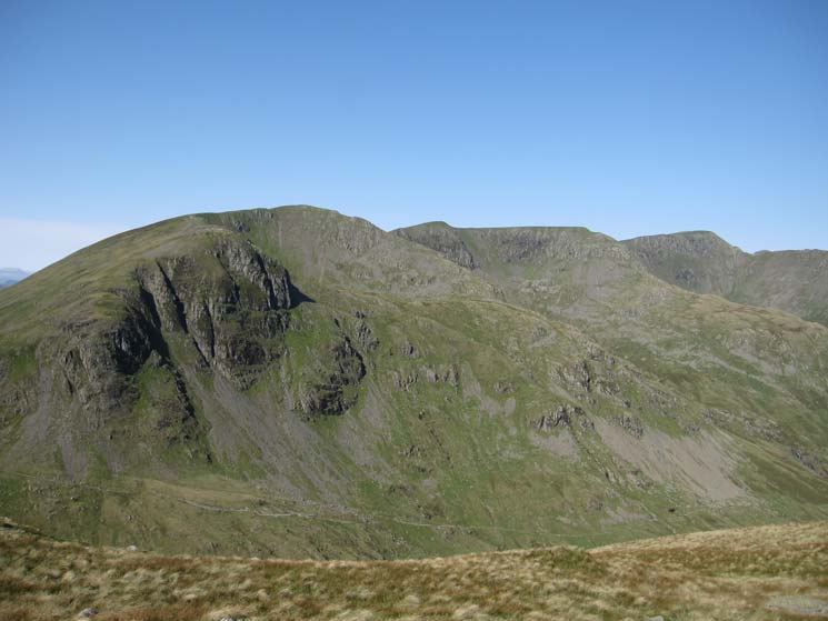 Looking across to Dollywaggon Pike, Nethermost Pike and Helvellyn