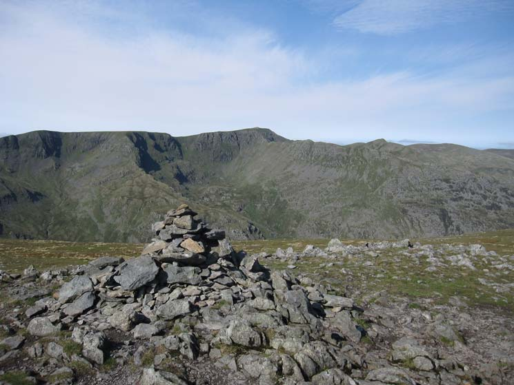 Looking across to Helvellyn from St Sunday Crag's summit cairn