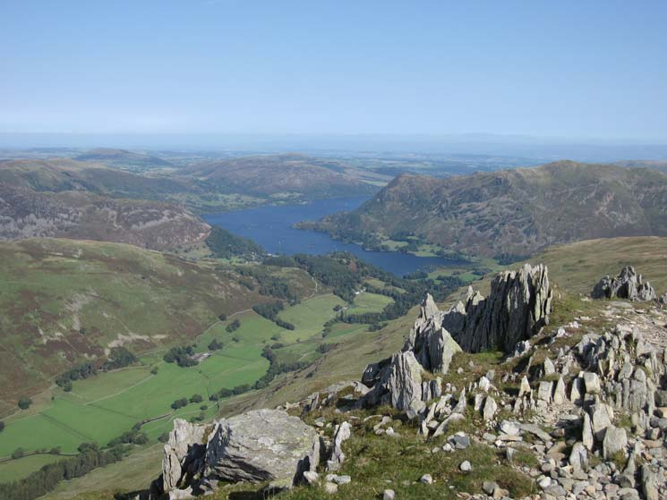 Ullswater far below