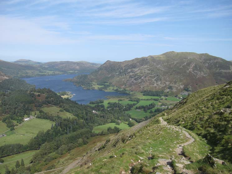Ullswater and Place Fell from the path on the side of Birks