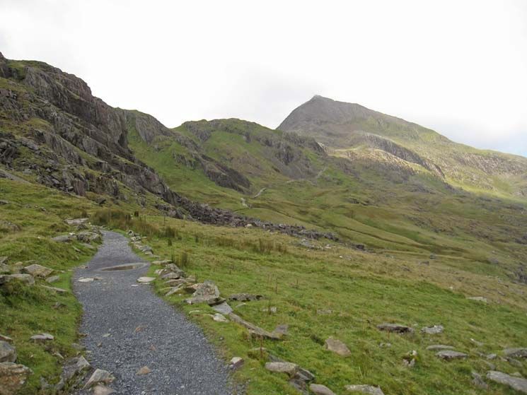 Start of the Pyg Track. The pointed peak is Crib Goch