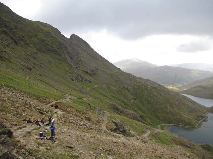 Junction of the Pyg Track and the Miners Track
