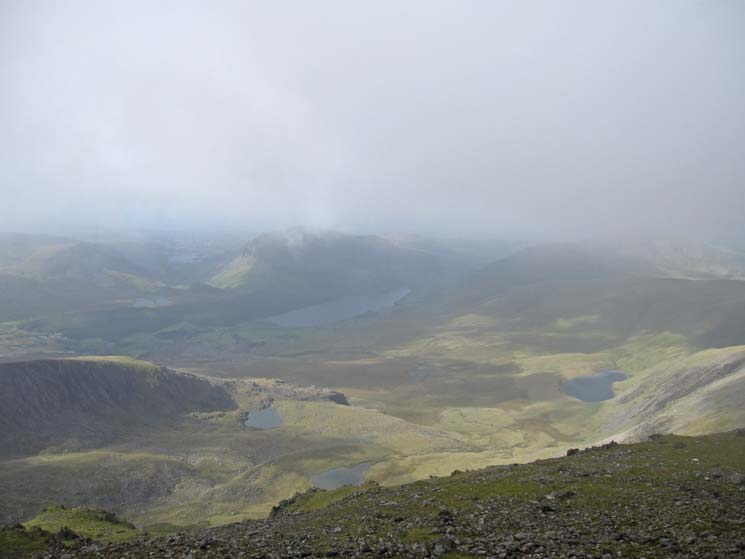 View west from Snowdon's summit