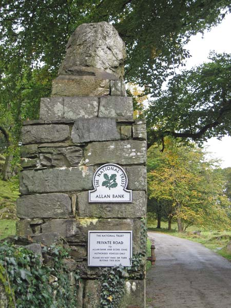 Gate post, Allen Bank