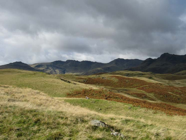 Pike o'Blisco, Crinkle Crags, Bowfell and the Langdale Pikes