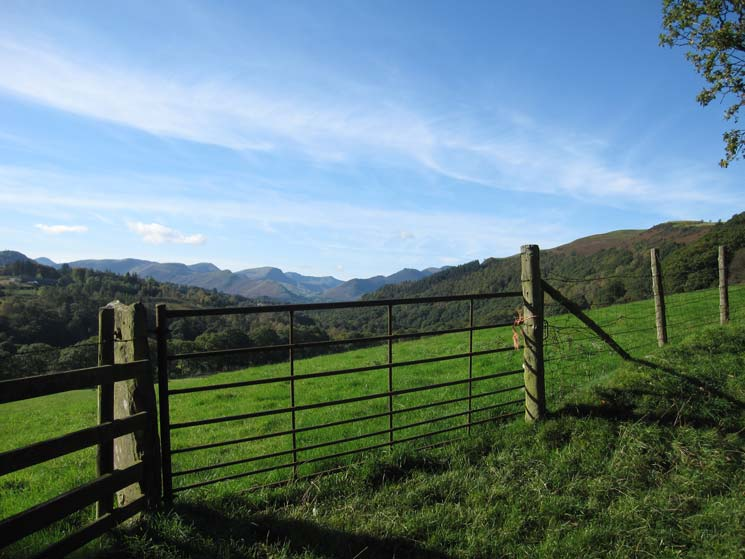 Looking across to the north western fells from near Brundholme