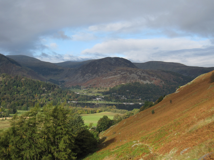 A glimpse of Ullswater with Sheffield Pike beyond