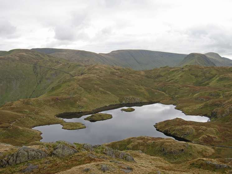 Angle Tarn from the southern and slightly lower pike