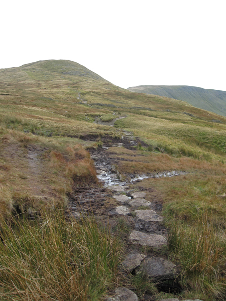 Its always boggy and wet on this section, The Knott ahead