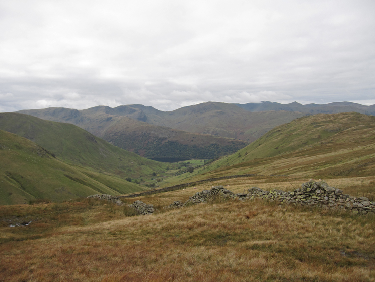 The eastern fells as we start our descent to Hayeswater