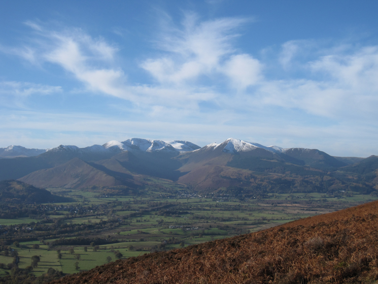 The north western fells as we head up Jenkin Hill from the Latrigg car park