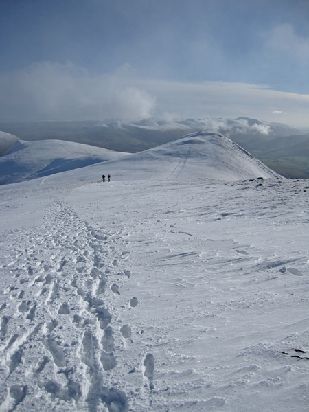Looking back to Skiddaw Little Man