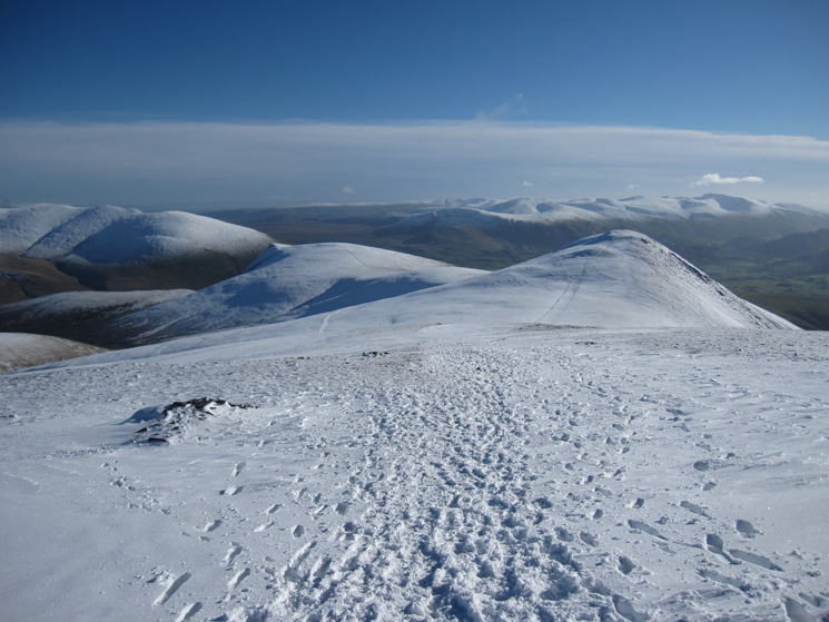 Lonscale Fell and Skiddaw Little Man as we head down