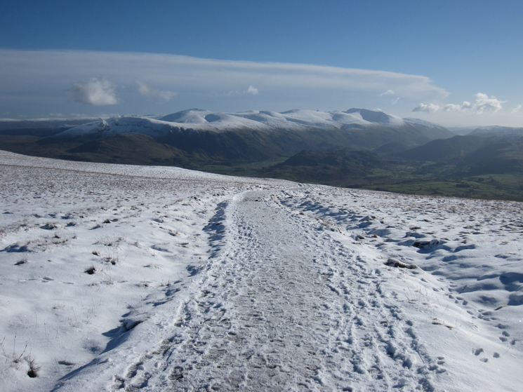 The Helvellyn ridge from Jenkin Hill