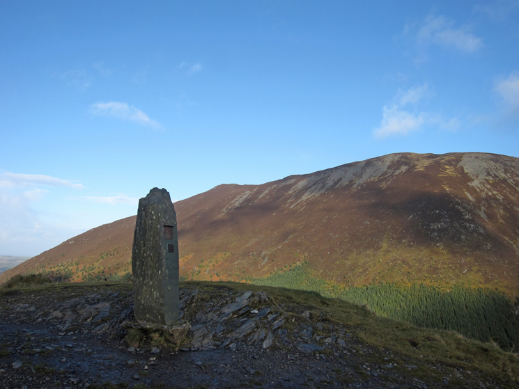 Dodd summit with Ullock Pike and Long Side in the sun behind