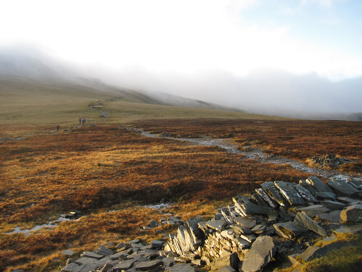 The way ahead from the Drum House, into the cloud