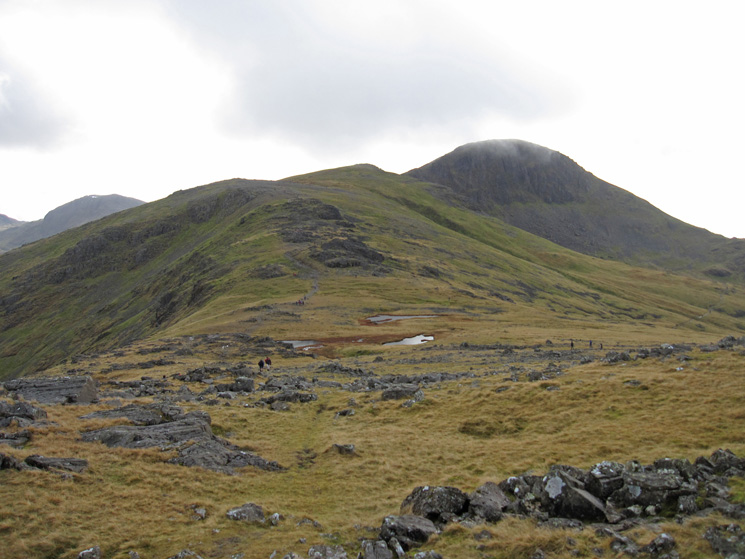 Looking back to Green Gable and Great Gable