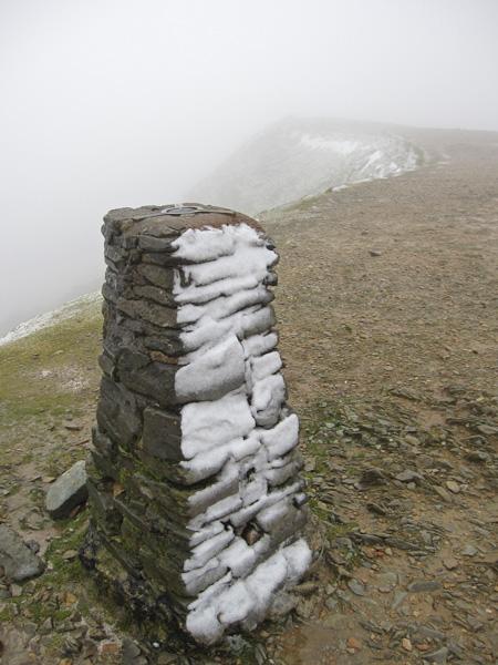 Helvellyn summit trig point
