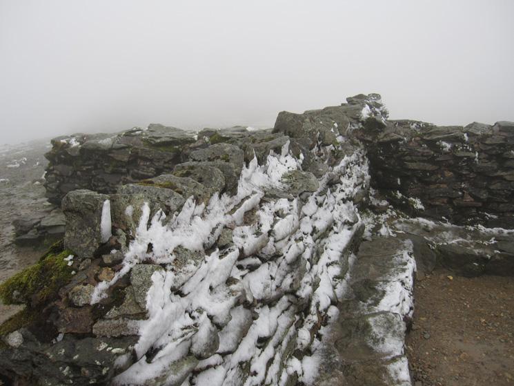 Helvellyn summit cross shelter