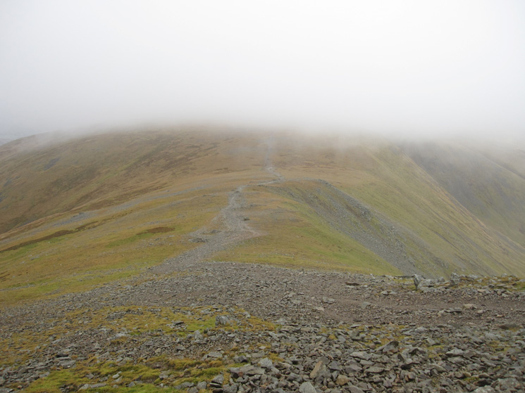 The col between Helvellyn Lower Man and White Side