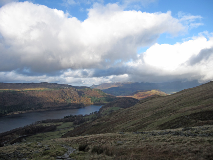 Sunshine on Raven Crag and High Rigg
