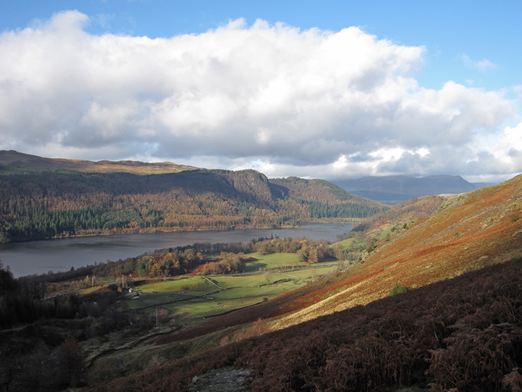 Raven Crag and Thirlmere as I descend back to Swirls