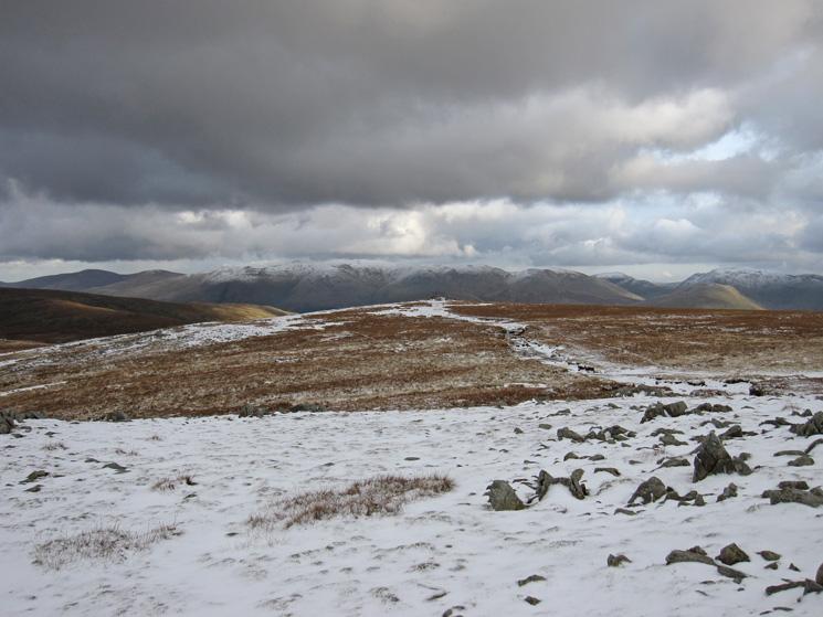 Looking across to the Helvellyn range