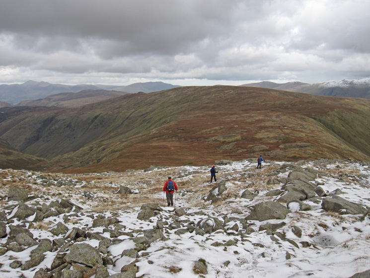 Heading for Greenup Edge with Ullscarf beyond