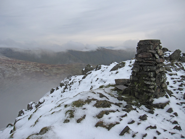 Red Screes summit trig point