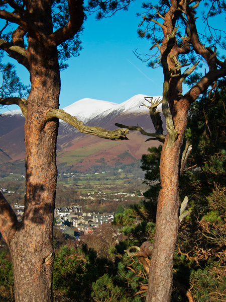 Skiddaw from the top of Castle Head