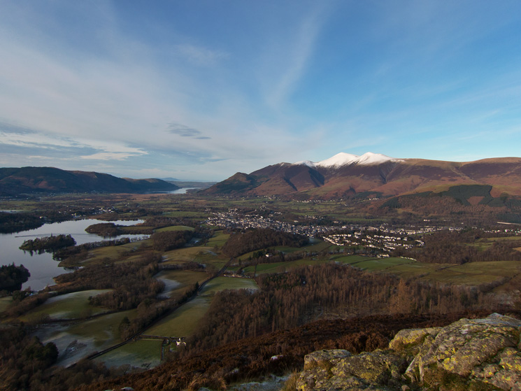 Keswick and the Skiddaw fells from Walla Crag