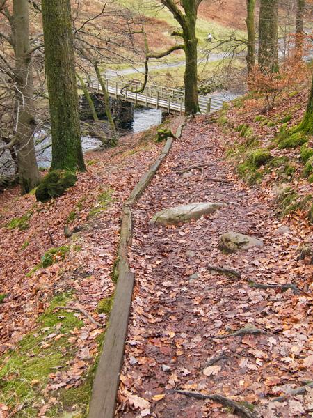 Down to the footbridge