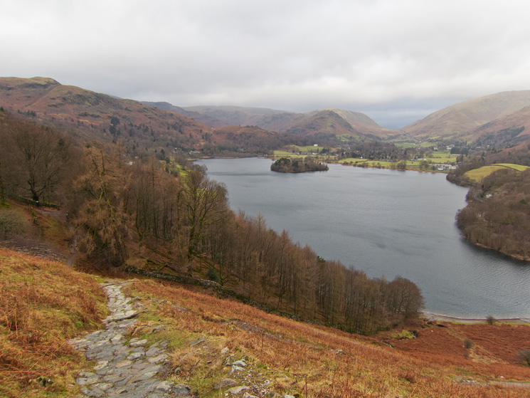 Grasmere from the path up Loughrigg