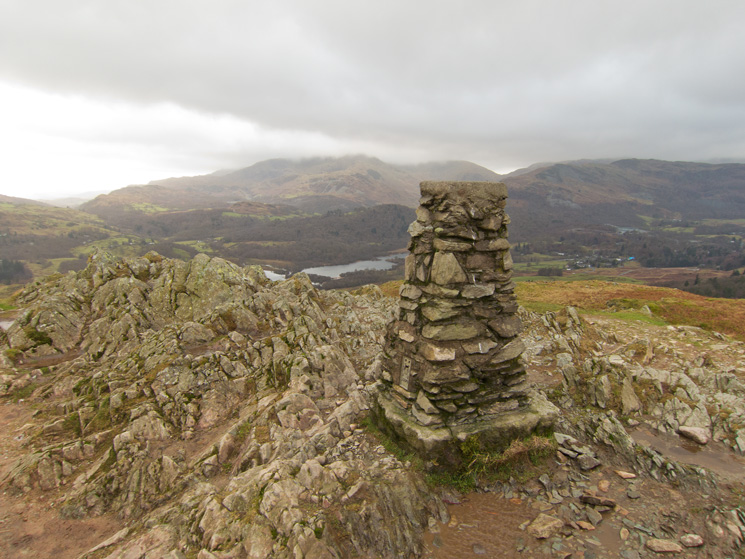 The Coniston fells from Loughrigg Fell's summit