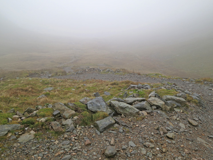 The track down to Mardale Head from Gatescarth Pass
