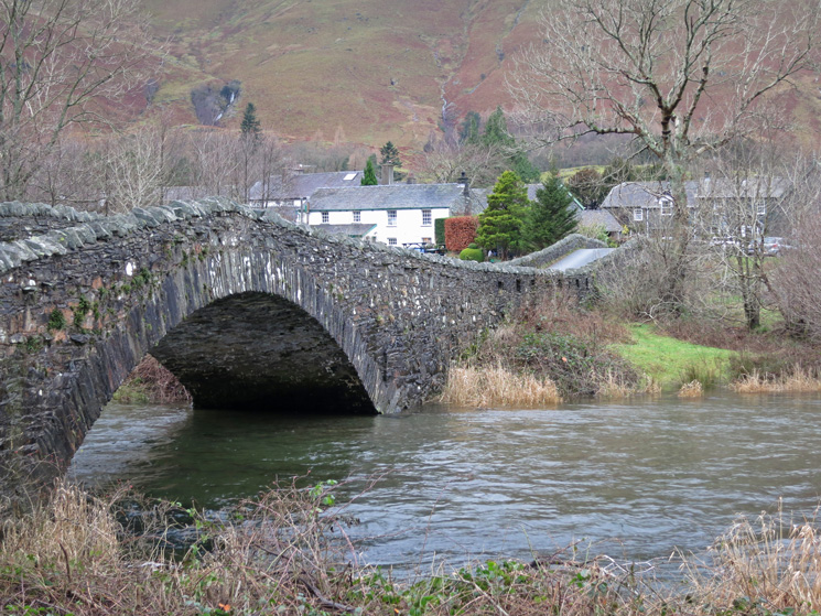 The double bridge over the River Derwent to Grange