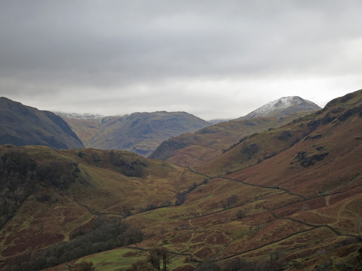 The view south up Borrowdale