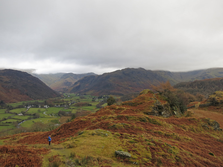 Towards Rosthwaite as we head down