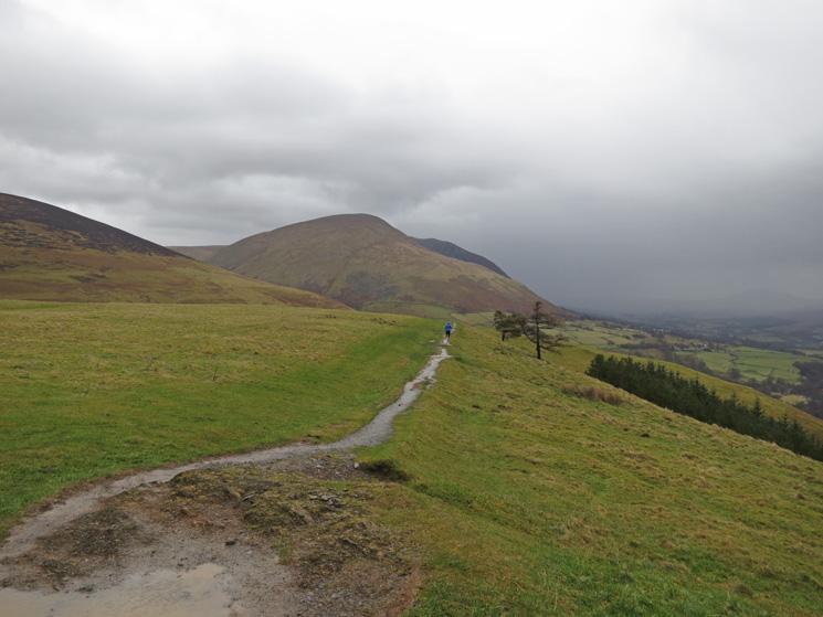 Leaving the summit, Blencathra ahead
